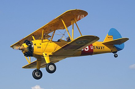 Over 10,000 Stearman (Boeing) Model 75 trainer aircraft were built during the 1930s and 1940s - Wichita, Kansas