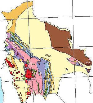 Geology of Bolivia - Image: Bolivia geological map 1.1