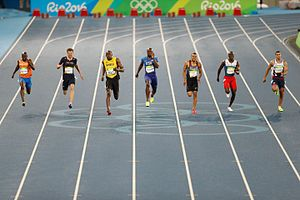 Athletics at the 2016 Summer Olympics – Men's 200 metres - Mid- straightaway, 200 metres final
