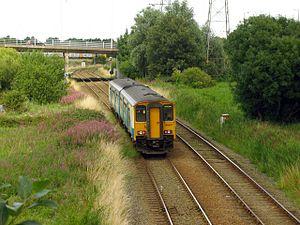 Borderlands line - Class 150 DMU on the Borderlands line near Bidston