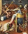 Bosch the Prince of Hell with a cauldron on his head.JPG