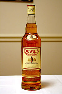 Bottle of Dewar's whisky.jpg