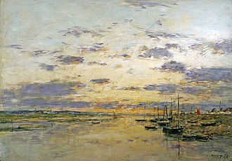 Etaples art colony - Image: Boudin sunset