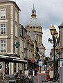 Boulogne-sur-Mer, Rue de Lille and the cathedral Notre-Dame.JPG