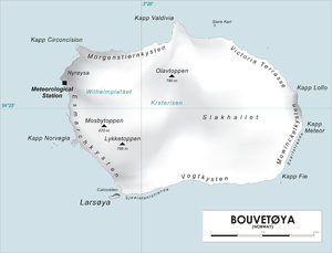 Карта острова буве