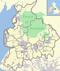 Longridge Fell is located in Forest of Bowland