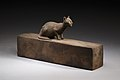 Box for animal mummy surmounted by a cat, inscribed MET LC-12 182 27 EGDP023744.jpg