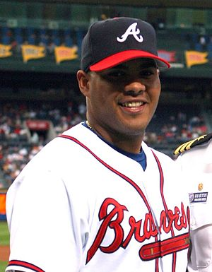 Brayan Peña - Peña during his tenure with the Atlanta Braves in 2005