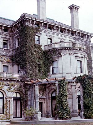 The Breakers - Side view of mansion, 1968