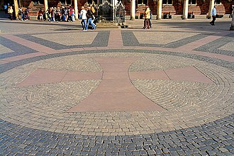 Bremer Marktplatz - Hanseatic Cross on the market