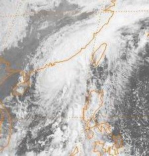 1989 Pacific typhoon season - Image: Brenda 1989052000GMS3VS