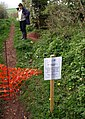 Bridleway closed by badger holes - geograph.org.uk - 1266610.jpg