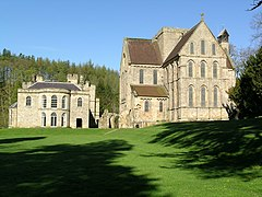 Brinkburn priory and hall taken from Brinkburn Mill - geograph.org.uk - 934247.jpg