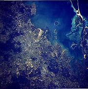 Satellite Image of Brisbane Metropolitan Area from Space-station