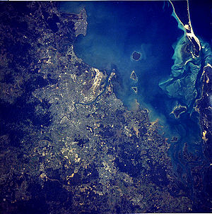 satellite image of the Brisbane Metropolitan A...