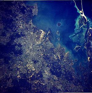 Brisbane Aerial From Satellite