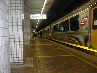 2005 Brisbane bomb hoax - Brisbane's Central railway station in 2005