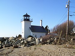 Bristol Ferry Lighthouse in Rhode Island.jpg