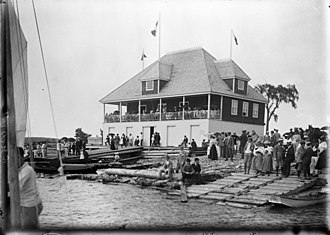 Britannia Yacht Club - Image: Britannia Boating Club now Britannia Yacht Club 1896 by William James Topley