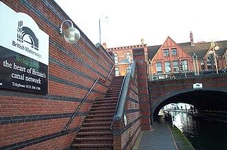 British Waterways - British Waterways sign near Gas Street Basin on the BCN Main Line in Birmingham