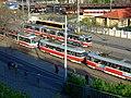 Brno, Město Brno, různé tramvaje.JPG