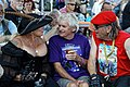 Broadstairs Folk Week Pavilion Gardens conversation, Broadstairs, Kent, England 02.jpg