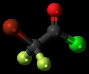 Bromodifluoroacetyl chloride - Image: Bromodifluoroacetyl chloride 3D ball