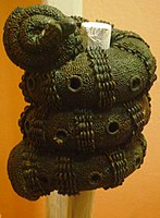 Bronze ornamental staff head, 9th century, Igbo-Ukwu.JPG
