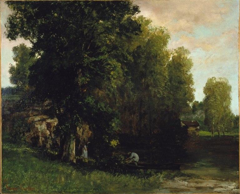 Brooklyn Museum - The Edge of the Pool (Au Bord de l'Etang) - Gustave Courbet