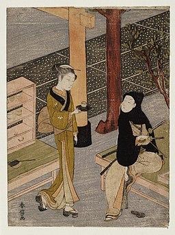 Brooklyn Museum - The artist and O-sen - Suzuki Harunobu