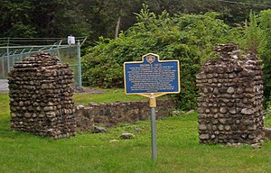 Sloatsburg (Metro-North station) - Brown Estate gateposts