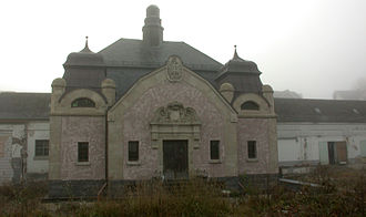 """Selters (Taunus) - """"Spring Temple"""" in Niederselters with former bottling building"""