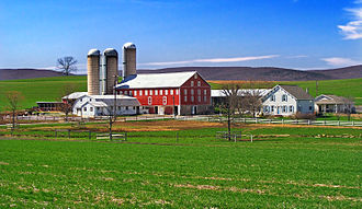 Buffalo Township, Union County, Pennsylvania - There are many dairy farms like this in Buffalo Township