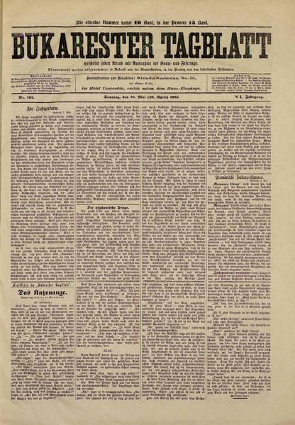 File:Bukarester Tagblatt 1885-05-10, nr. 102.pdf