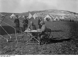 Djemal Pasha - Supreme Commander of the fourth Army Djemal Pasha and his chief of staff Fuad Bey at a command post in southern Palestine in April 1917.