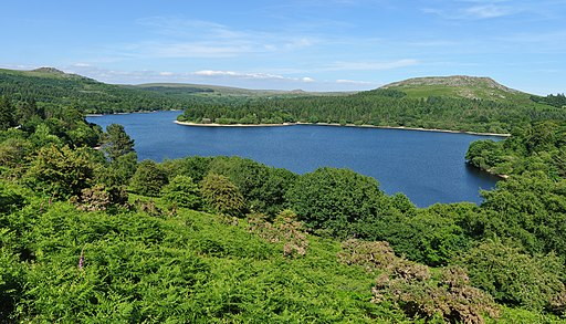 Burrator Reservoir from the west