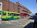 Buses queuing in Newport South Street.JPG