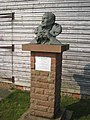 Bust of Sir Peter Scott, WWT, Caerlaverock - geograph.org.uk - 384915.jpg
