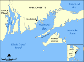 Buzzards Bay - Map of Buzzards Bay