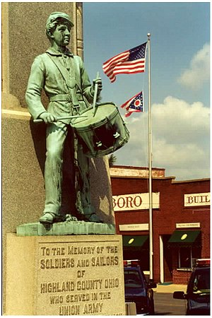 Ohio in the American Civil War - Monument in Hillsboro.