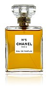 Bottle of Chanel No.5 perfume