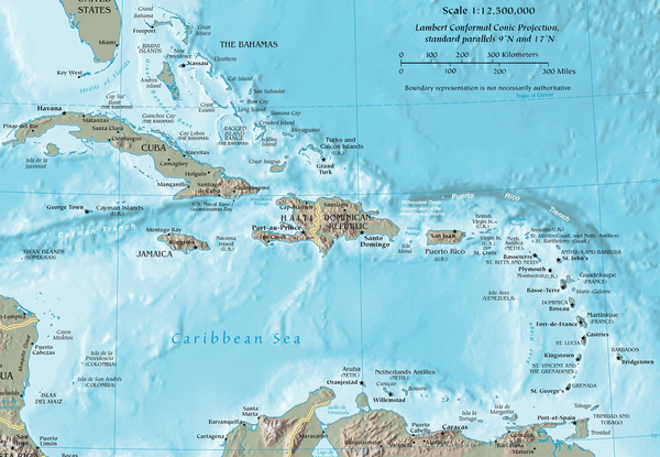Map of the Caribbean CIA map of the Caribbean.png