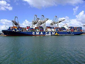 CMA CGM Ravel p2, at the Amazone harbour, Port of Rotterdam, Holland 29-Jul-2007.jpg