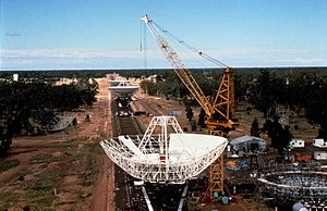 Australia Telescope Compact Array - Image: CSIRO Science Image 104 Closeup of Australia Telescope Compact Array Construction