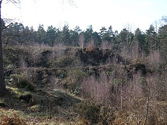 Swinley Forest - Multivallate defences at Caesar's Camp