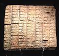 Calco di tavoletta in terracotta da Ebla - Museo d'Arte Orientale Roma.jpg