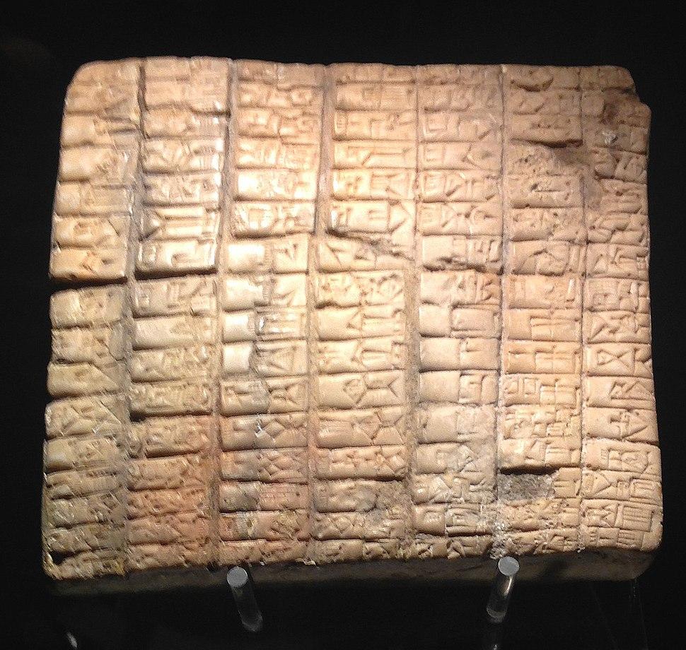 Calco di tavoletta in terracotta da Ebla - Museo d'Arte Orientale Roma