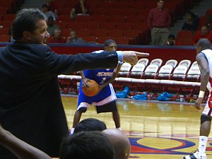 John Calipari - Calipari directing his players during an away game against Conference USA rival University of Houston in January 2007.