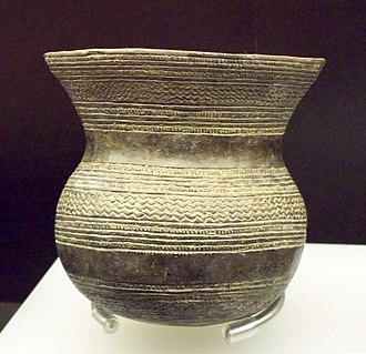 Community of Madrid - Prehistoric vessel from Ciempozuelos, exhibited at the National Archaeological Museum of Spain in Madrid