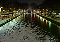 Canal Saint-Martin, Paris - Frozen Canal from Passerelle Alibert.jpg